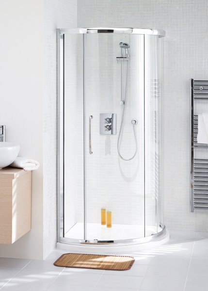 Lakes Curved Corner Slider Shower Door