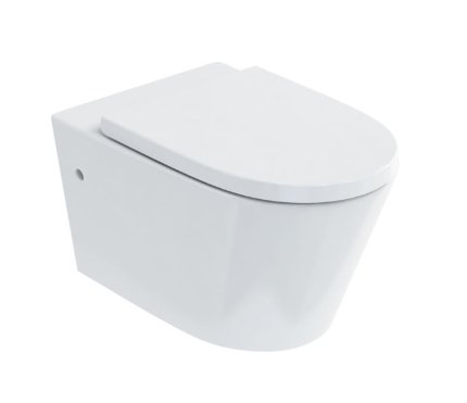 Britton Bathrooms Sphere Rimless Wall Hung WC