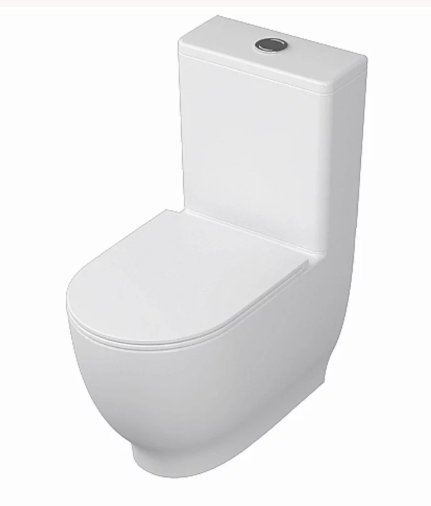 RAK Moon Close Coupled Back To Wall Touchless Flushing WC Pack With Soft Close Seat