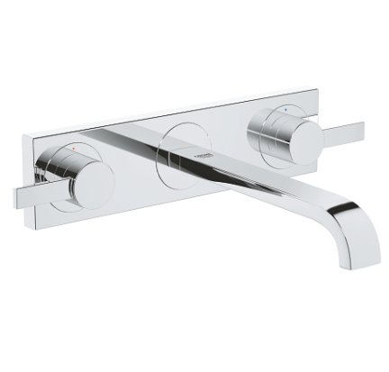 Grohe Allure Three Hole Wall Mounted Basin Mixer