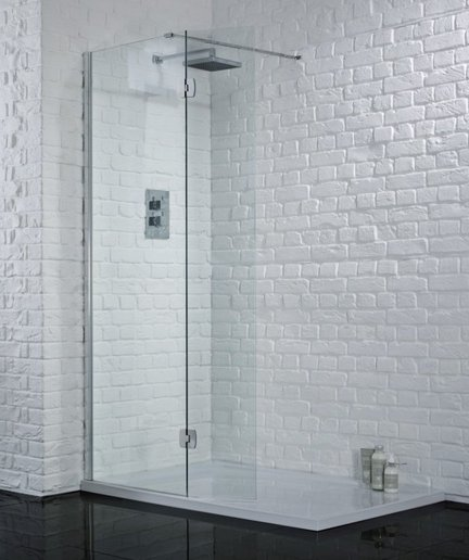 Aquadart 1200mm Wetroom with Hinged Return Panel
