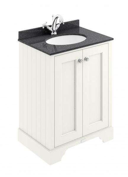 Bayswater 600mm Pointing White 2 Door Basin Cabinet