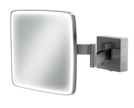 HIB Eclipse Square LED Extendable Magnifying Mirror