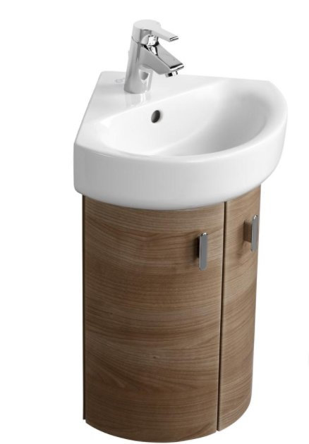 Ideal Standard Concept Space 370mm Wall Mounted Corner Basin Unit Bathroom Supplies Online