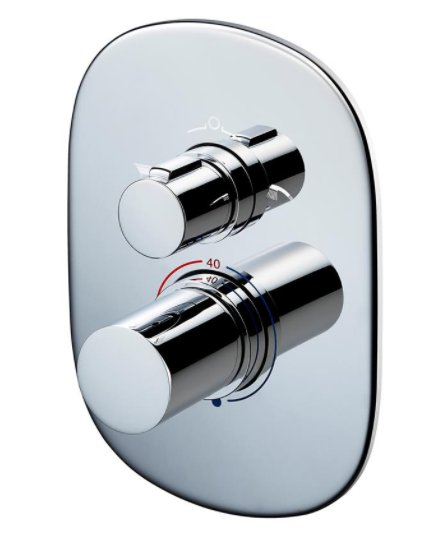 Sottini Basento Oval Thermostatic Built In Bath Shower Mixer