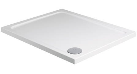 Roman 1000 x 800mm Acrylic Capped Stone Rectangle Shower Tray