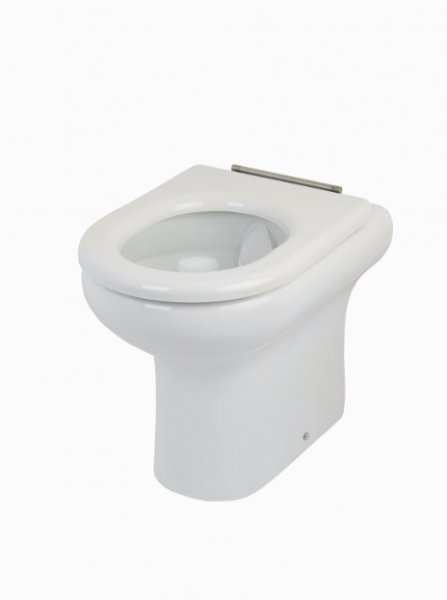 RAK Compact 45.5cm Rimless Back To Wall WC Pan With Soft Close Seat