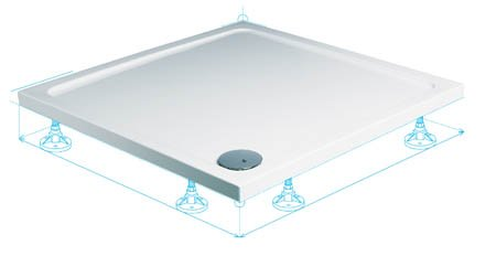 Roman 1000 x 1000mm Acrylic Capped Stone Square Shower Tray