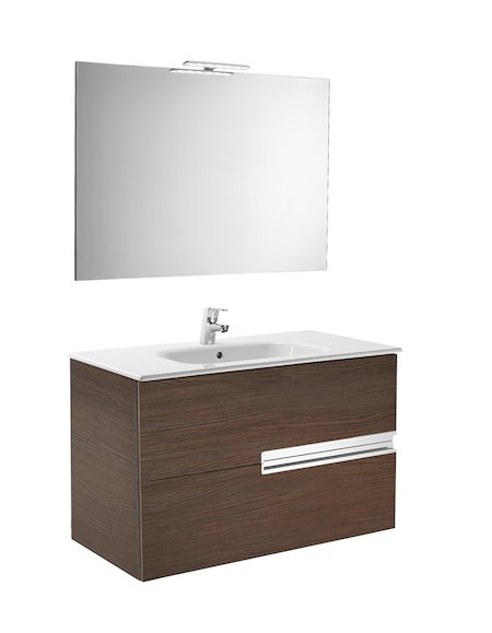 Roca Victoria-N UNIK Square Basin, Furniture, Mirror and Light 800mm