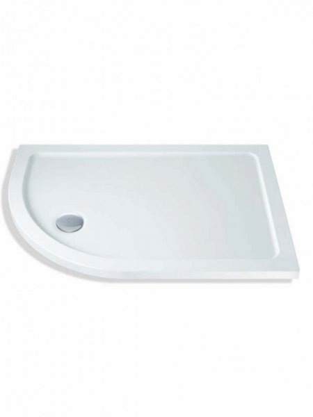 MX DucaStone 900 x 800mm Offset Quadrant Shower Tray (550 Radius)
