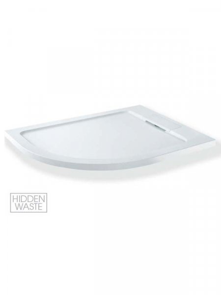 MX Expressions 1200 x 900mm Offset Quadrant ABS Stone Shower Tray
