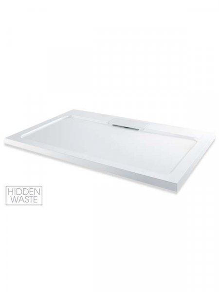 MX Expressions 1000 x 800mm Rectangular ABS Stone Shower Tray