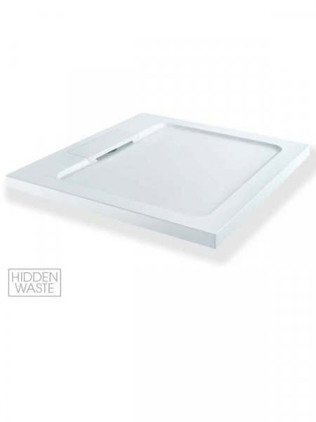 MX Expressions 800 x 800mm Square ABS Stone Shower Tray