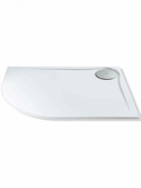 MX Optimum 1200 x 900mm Offset Quadrant Shower Tray (550 Radius)