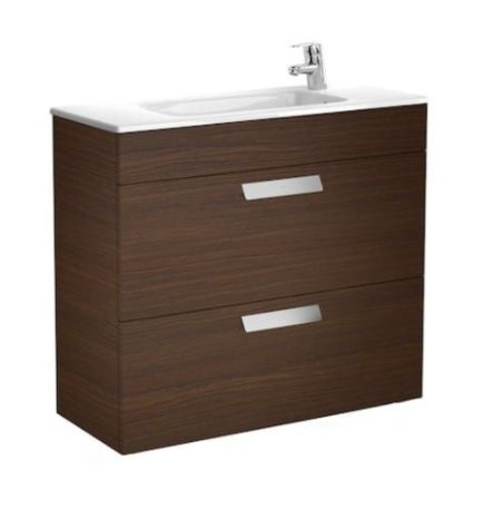 Roca Debba 805mm Compact Basin & Textured Wenge Unit (2 Drawer)