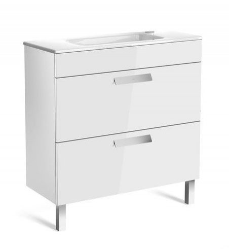 Roca Debba 805mm Compact Basin & Gloss White Unit (2 Drawer)