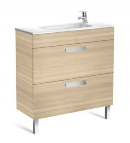 Roca Debba 805mm Compact Basin & Textured Oak Unit (2 Drawer)