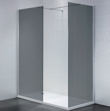 April Identiti 2 8mm Wetroom Panels - Smoked Glass