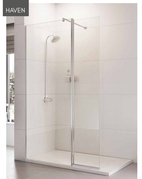 Roman Showers Haven Wetroom Panel - 700mm Wide