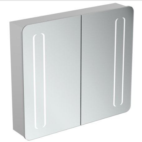 Ideal Standard 80cm Mirror Cabinet With Bottom Ambient & Front Light