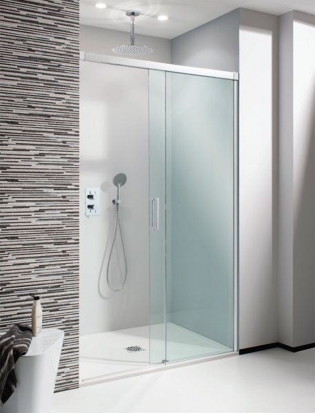 Crosswater Design+ Soft Close 1600mm Single Slider Shower Slider (Stock Clearance)