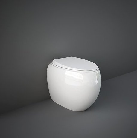RAK Cloud Gloss White Back To Wall Pan