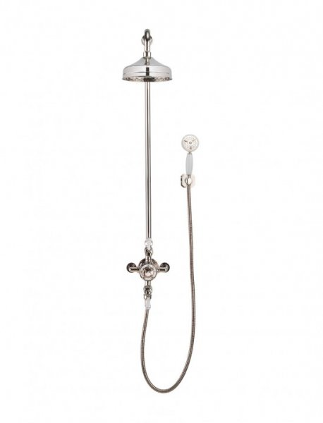 Crosswater Belgravia Nickel Valve with Wall Bracket and 8