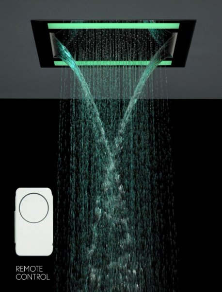 Crosswater Rio Revive Shower Head with Lights and Double Waterfall Feature