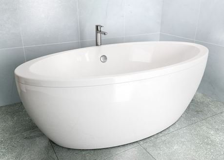 Cleargreen Freestanding Freefuerte Bath with Outer Skin