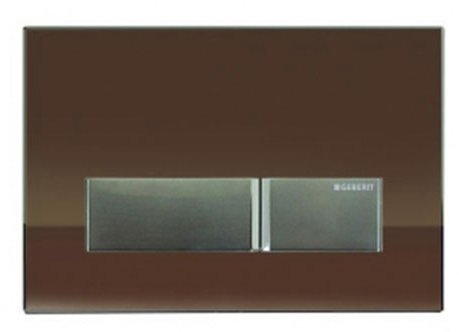 Geberit Sigma 40 Umber Glass Dual Flush Plate