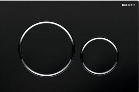 Geberit Sigma 20 Black/Gloss Chrome/Black Dual Flush Plate