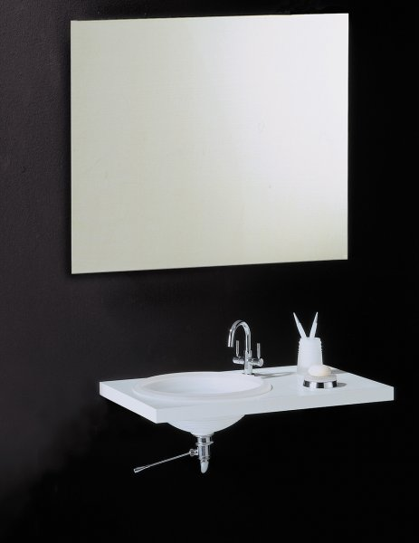 Bathroom Origins Slim 800 x 1000mm Rectangular Mirror