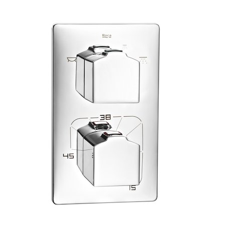 Roca L90 Wall Mounted Thermostatic Bath Shower Mixer and Kit