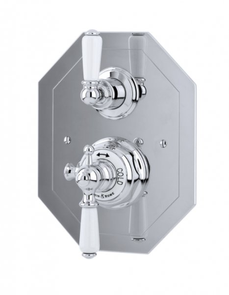 Perrin & Rowe Concealed Thermostatic Shower Mixer with Lever Handles