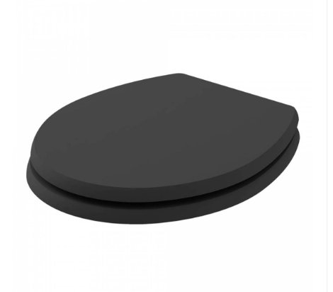 Bayswater Fitzroy Matt Black Traditional Round Wood Seat