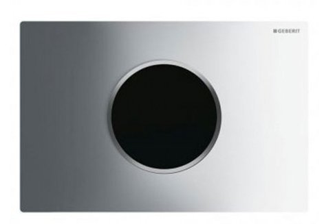 Geberit Sigma 10 Chrome Gloss/Chrome Matt/Chrome Gloss Touchless WC Flush For Sigma Cistern 12cm, Battery Powered*