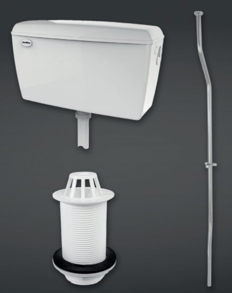 RAK Compact 4.5l Urinal Cistern Complete With Pipe Sets, Spreader And Waste For 1 Urinal
