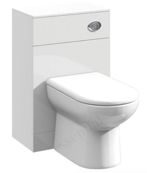 Essential Alaska 500 x 766 x 300mm Back to Wall WC Unit
