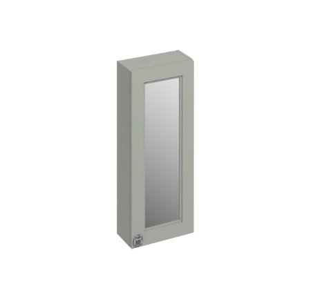 Burlington Bathrooms Dark Olive 30cm Single Door Mirror Cabinet