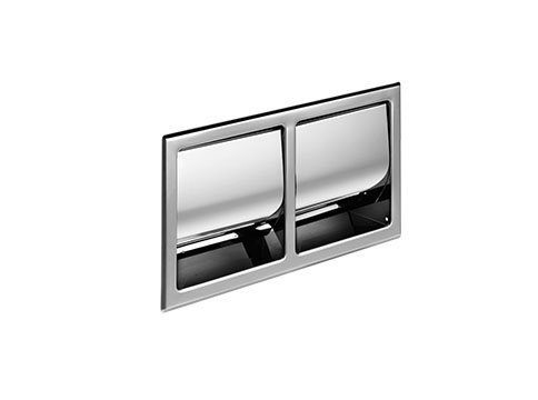 Inda Hotellerie Recessed Double Toilet Roll Holder