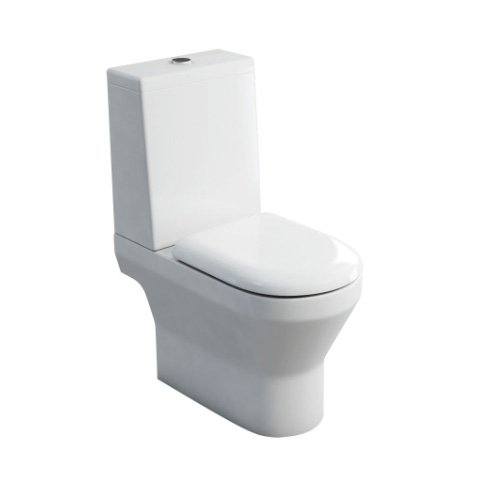 Britton Bathrooms Curve Close Coupled Open Back WC Toilet With Cistern