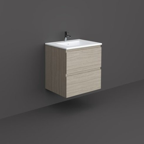 RAK Joy 60cm Grey Elm Wall Hung Basin