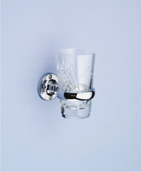 Silverdale Berkeley Tumbler Holder and Crystal Glass Tumbler