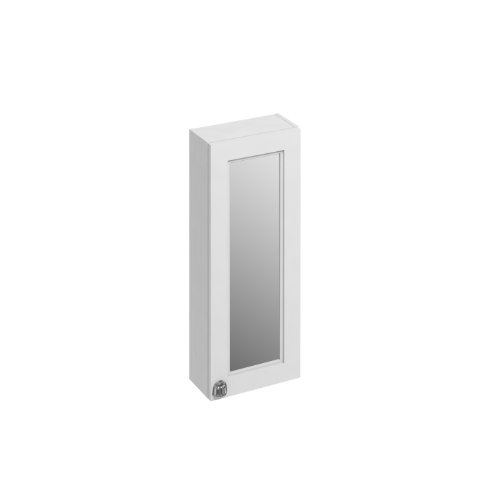 Burlington Bathrooms Matt White 30cm Single Door Mirror Cabinet