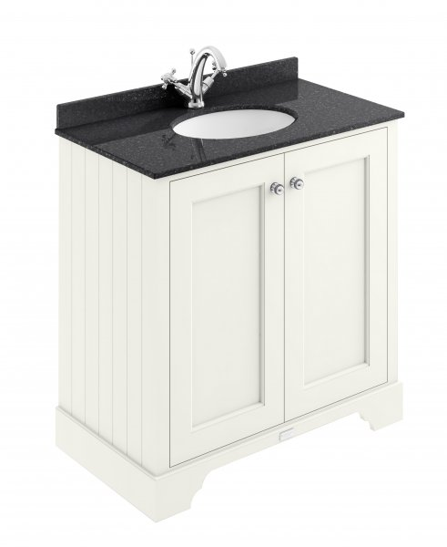 Bayswater 800mm Pointing White 2 Door Basin Cabinet
