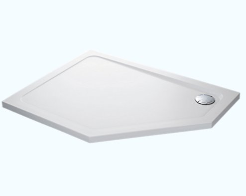 Mira Flight Low 1200 x 900mm Pentagon Shower Tray