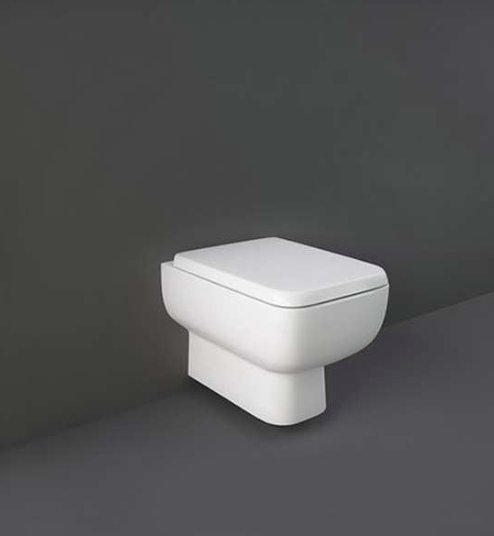 RAK Series 600 Rimless Back To Wall Pan With Sandwich Soft Close Seat