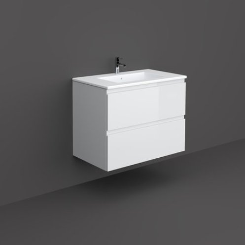 RAK Joy 80cm Pure White Wall Hung Basin Unit
