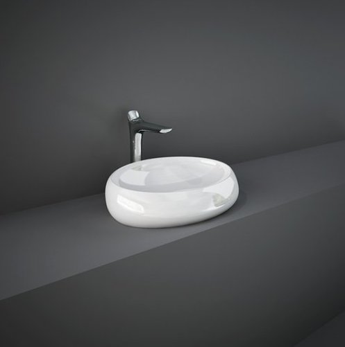 RAK-Cloud 60cm Gloss White Counter Top Basin