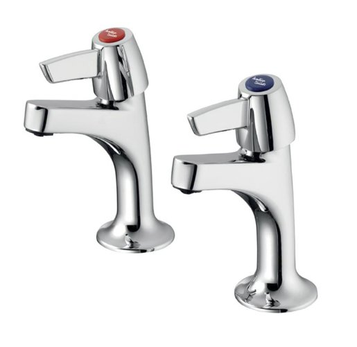 Ideal Standard Sandringham 21 High Neck Pillar Taps with Levers